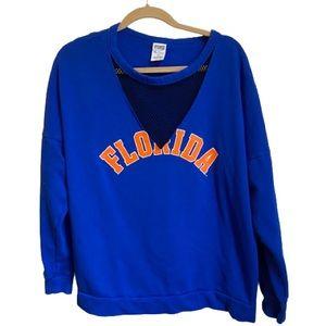 VS Pink University of Florida Mesh Sweat Shirt - M